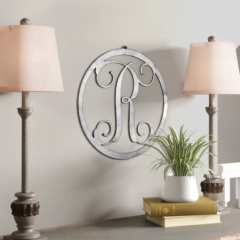 Letter Circle Monogram Wall Decor