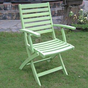 Bristol Folding Patio Dining Chair (Set of 2) byBeachcrest Home