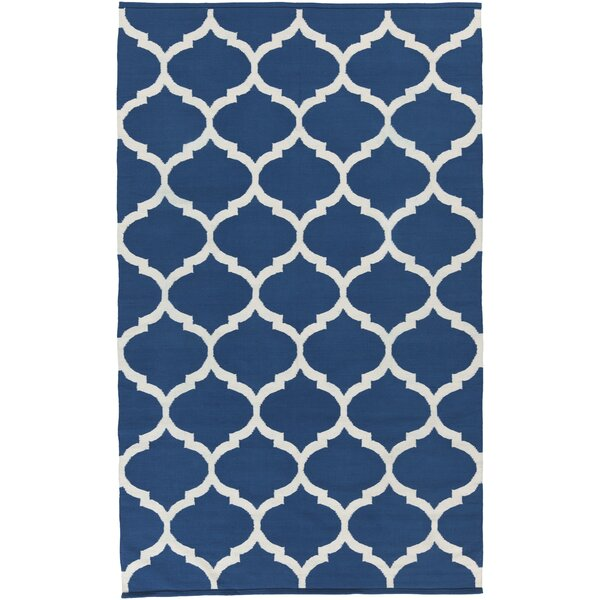 Bohannon Blue Geometric Area Rug by Andover Mills