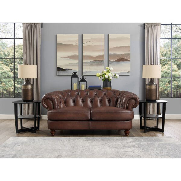 Southgate Leather Loveseat By Charlton Home