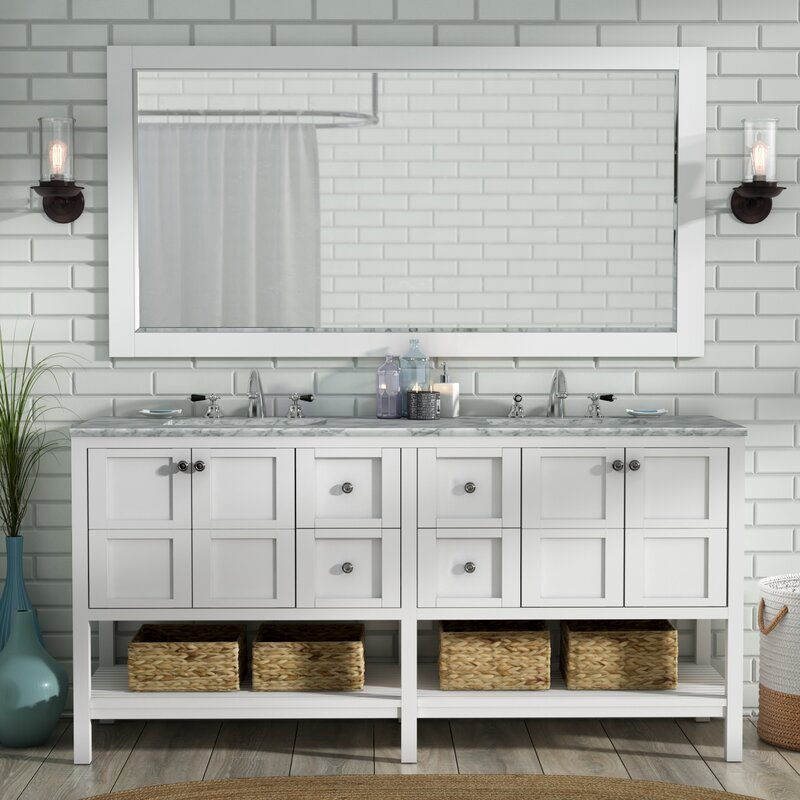 Caldwell 72 in. Double Bathroom Vanity Set with Mirror
