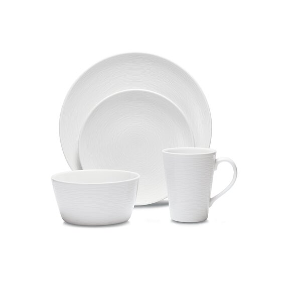 Colorscapes WoW Swirl 4 Piece Place Setting, Service for 1 by Noritake