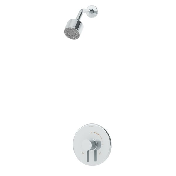 Dia 1-Handle Thermostatic Shower Valve Trim Kit with Lever Handle by Symmons