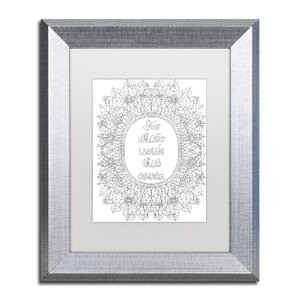 'Inspirational Quotes 18' by Hello Angel Framed Graphic Art by Trademark Fine Art