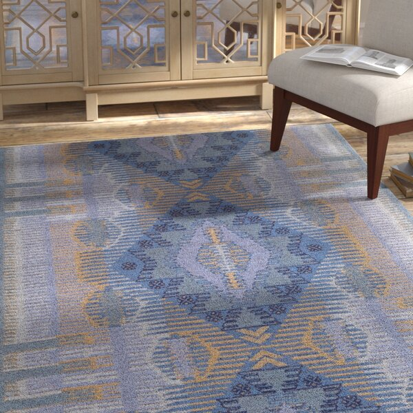 Sturbridge Hand-Woven Aqua Outdoor Area Rug by Bungalow Rose