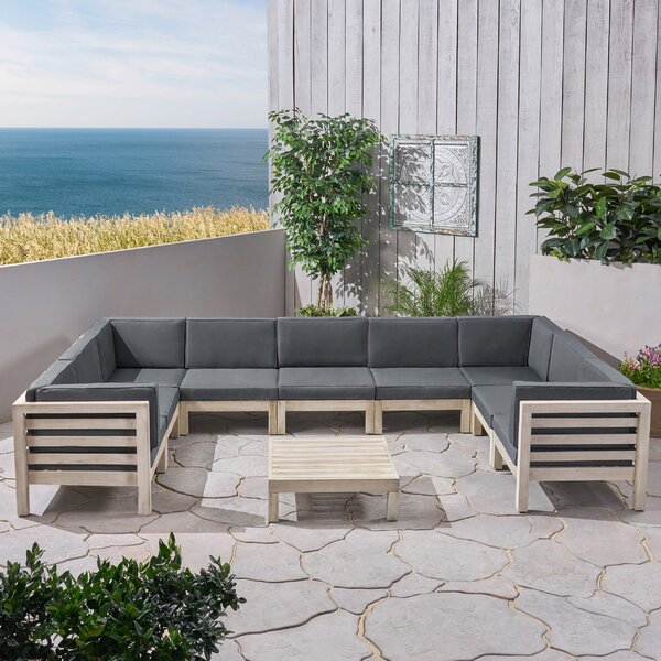Mammie 10 Piece Sectional Seating Group with Cushions by Foundry Select Foundry Select