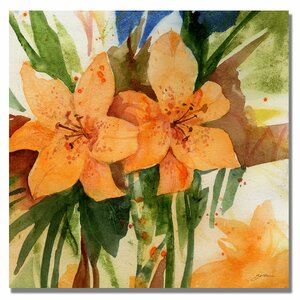 'Tigerlillies' by Sheila Golden Painting Print on Canvas by Trademark Fine Art