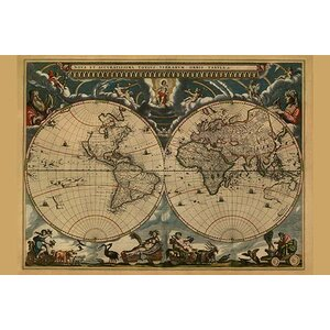 'New & Accurate Map of the World' by J. Blaeu Graphic Art by Buyenlarge