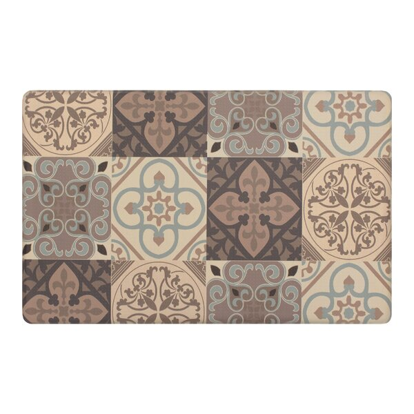 Guiterrez Kitchen Tile Collage Kitchen Mat by Fleur De Lis Living