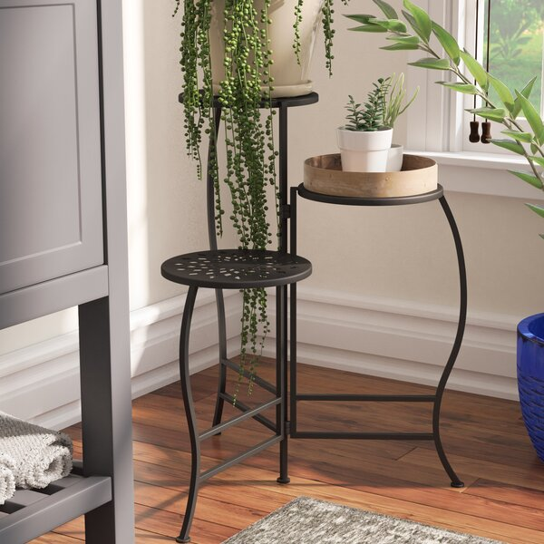 Chino Hills Modern Pierced Top Design Folding Plant Stand by Bloomsbury Market