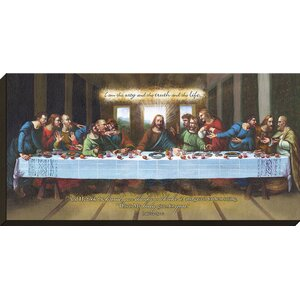Biblical 'I Am the Way (Last Supper)' Graphic Art on Wrapped Canvas by Carpentree