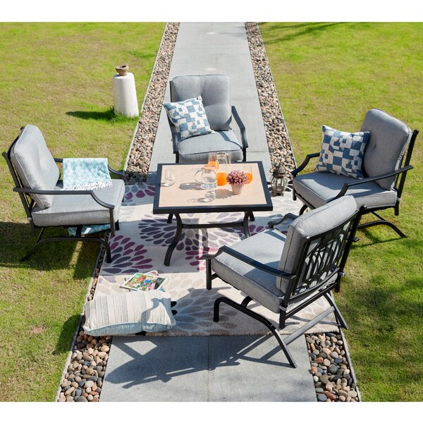Straka 5 Piece Sofa Multiple Chairs Seating Group with Cushions by Charlton Home