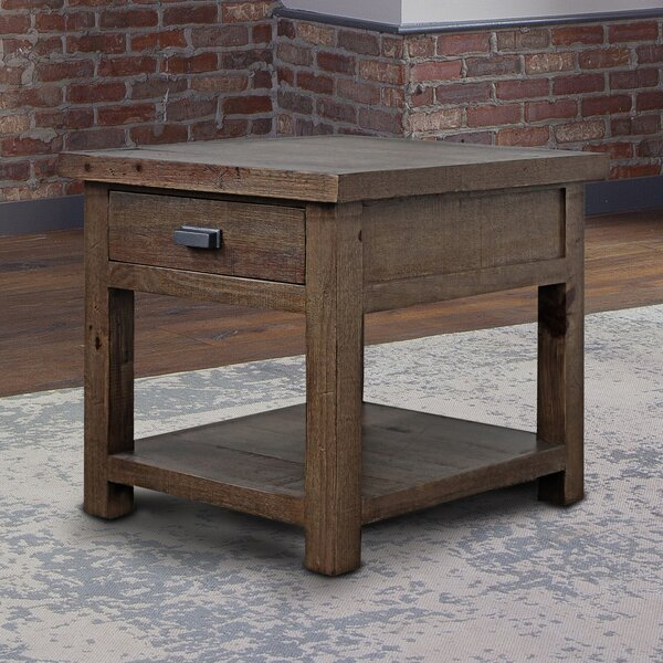 Selvidge Solid Wood End Table With Storage By Foundry Select