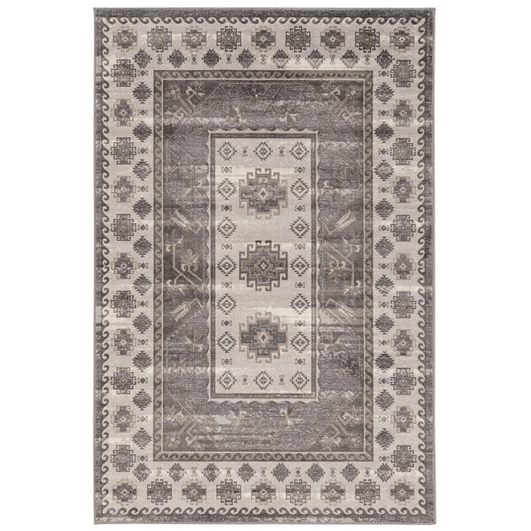 Dre Beige/Gray Area Rug by Bloomsbury Market