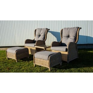 Pilcher 4 Piece Conversation Set with Cushions By One Allium Way