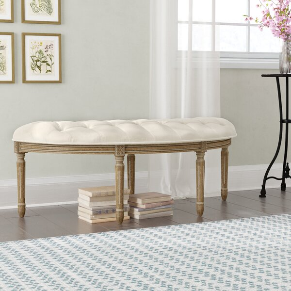 Javed Semi-Circle Upholstered Bench by Lark Manor
