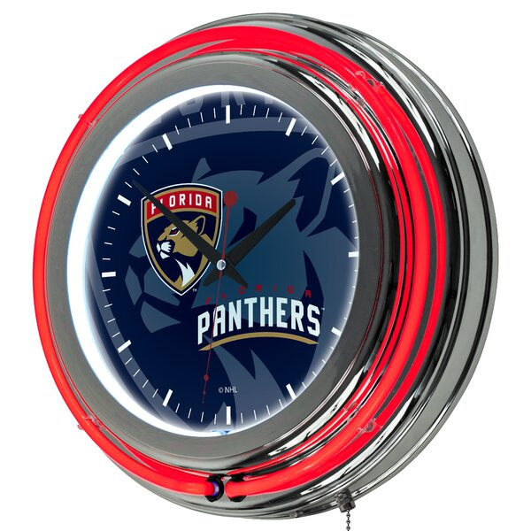 NHL Watermark Neon 11 Wall Clock by Trademark Global