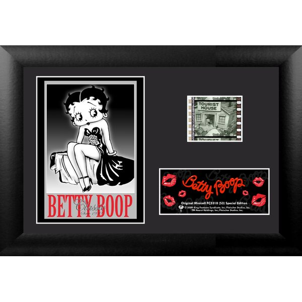 Betty Boop Mini FilmCell Presentation Framed Graphic Art by Trend Setters