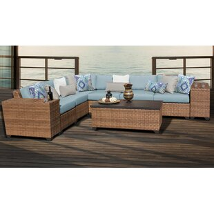 East Village 9 Piece Sectional Seating Group with Cushions by Rosecliff Heights