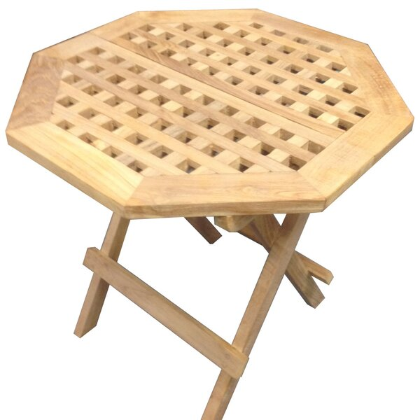 Kirsten Folding Teak Bistro Table By Rosecliff Heights