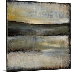'Misty Horizon III' by Jennifer Goldberger Painting Print on Wrapped Canvas by Great Big Canvas