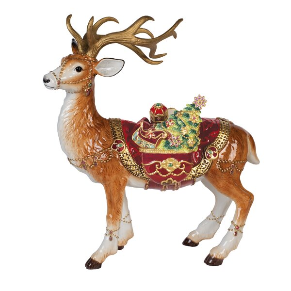 Renaissance Holiday Deer Figurine by Fitz and Floyd