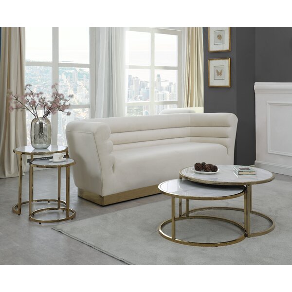 Jelissa 4 Piece Coffee Table Set by Everly Quinn Everly Quinn