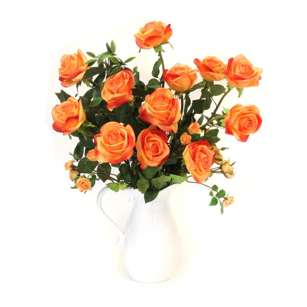 Rose Mix Floral Arrangement in Pitcher by August Grove