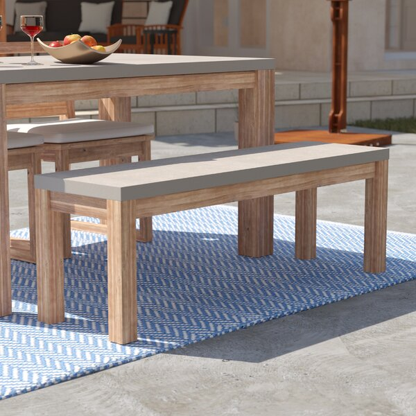 Sarsden Wooden Picnic Bench by Rosecliff Heights