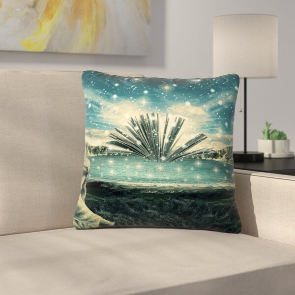 888 Design the Knowledge Keeper Fantasy Outdoor Throw Pillow by East Urban Home