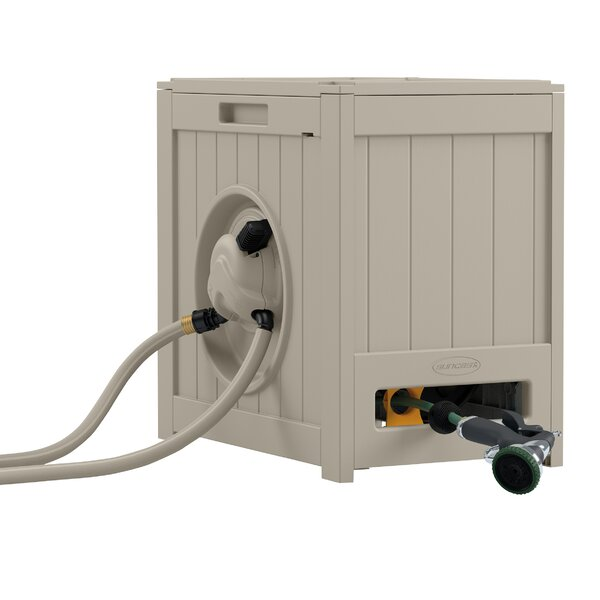 Plastic Hose Reel with Automatic Rewind by Suncast