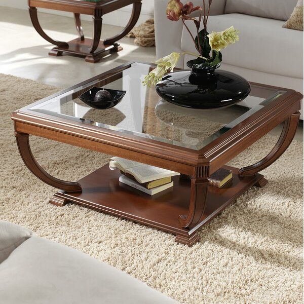Elin Glass Top Coffee Table by Darby Home Co