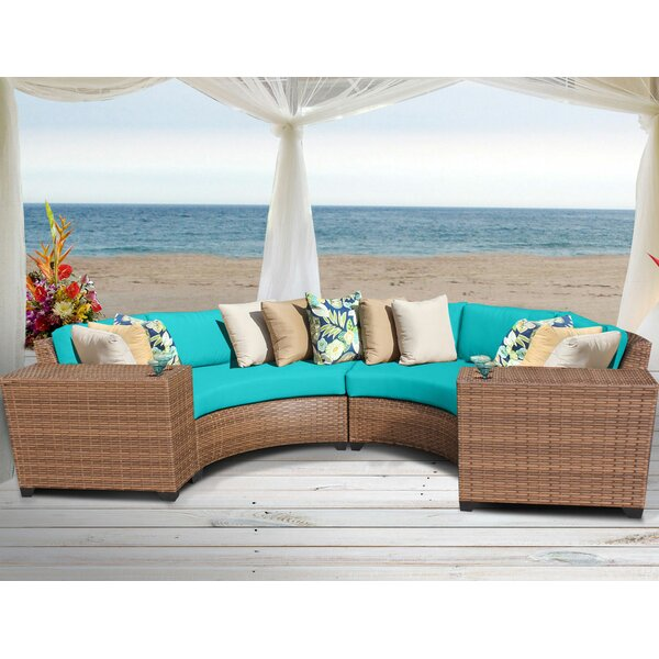 Waterbury 4 Piece Rattan Seating Group with Cushions by Sol 72 Outdoor