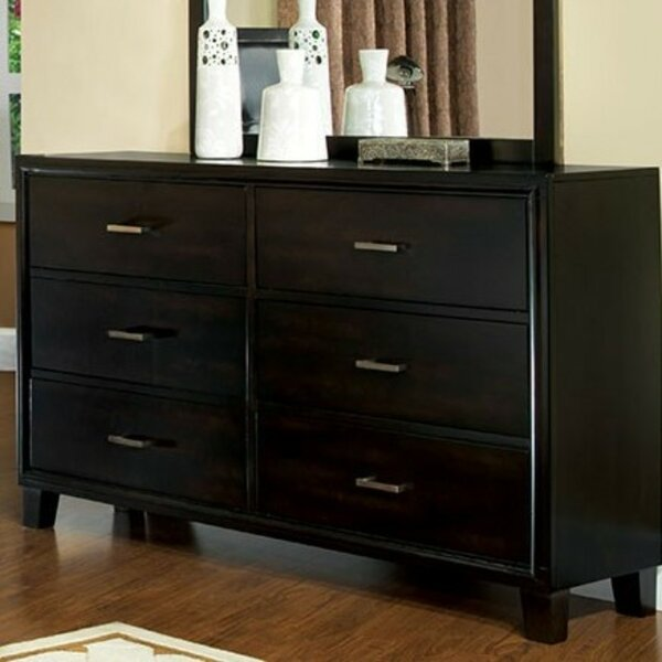 Bogazi Contemporary 6 Drawer Double Dresser by Latitude Run