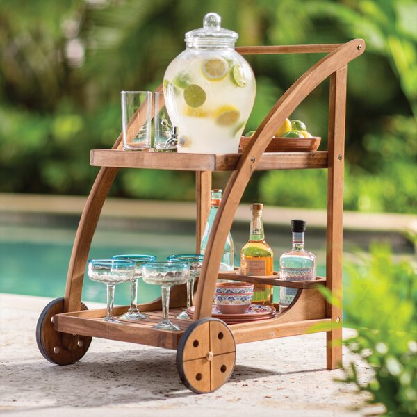 Bucksport Bar Serving Cart by Beachcrest Home