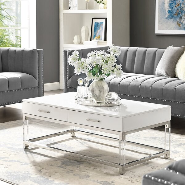 Leeann Coffee Table With Storage By Everly Quinn