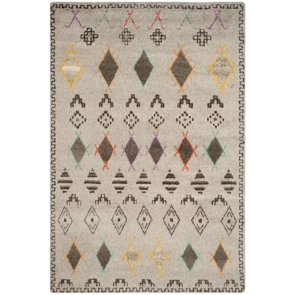 Gretta Natural/Multi Geometric Area Rug by World Menagerie
