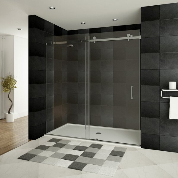 Ultra-B 60'' x 76'' Single Sliding Shower Door by LessCare