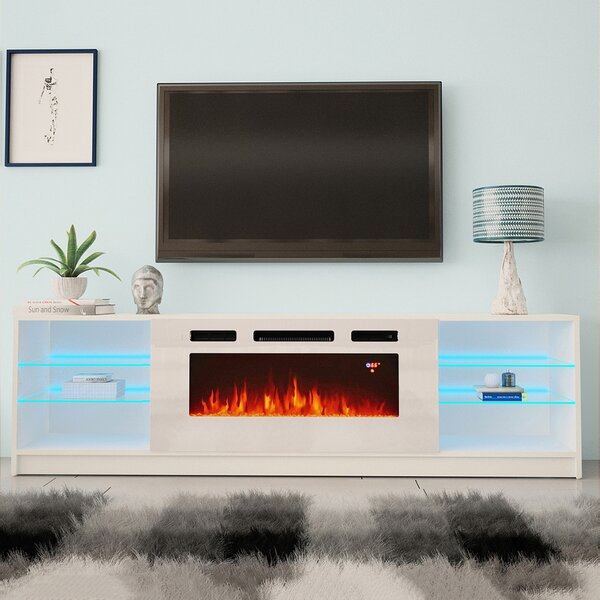 Review Delaine TV Stand For TVs Up To 88