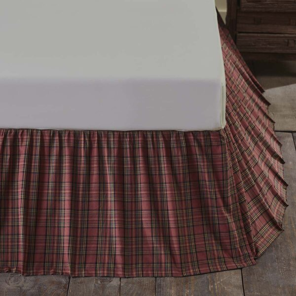Brennan Plaid Bed Skirt by August Grove