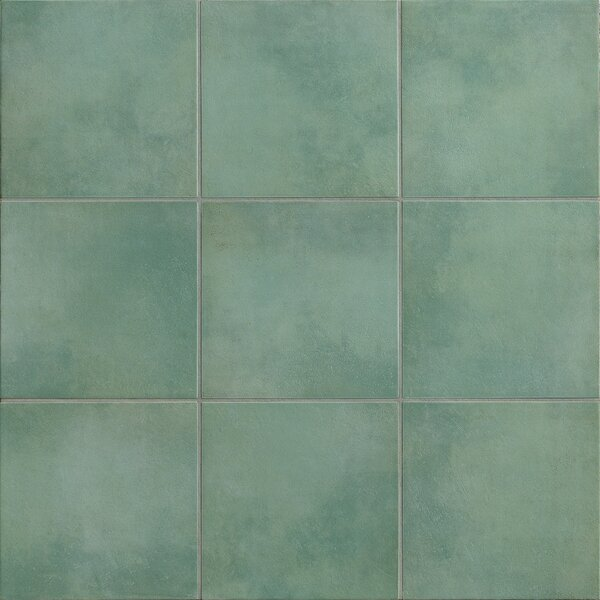 Poetic License 18 x 18 Porcelain Field Tile in Aqua by PIXL