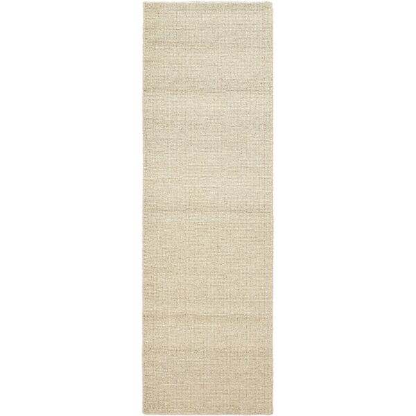 One-of-a-Kind Delaney Hand-Knotted Wool Beige Indoor Area Rug by Isabelline