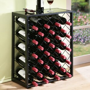 Plainville 32 Bottle Floor Wine Rack by Latitude Run