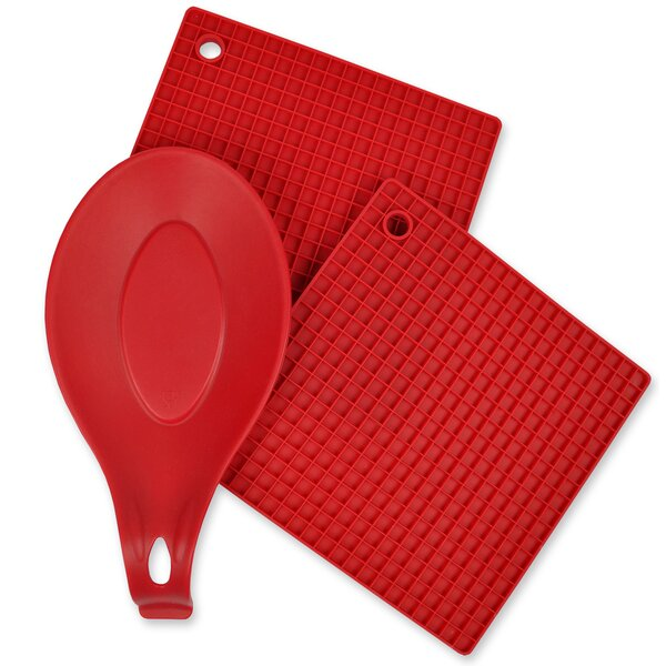 Chef Silicone 3-Piece Pot Holder Set by Design Imports