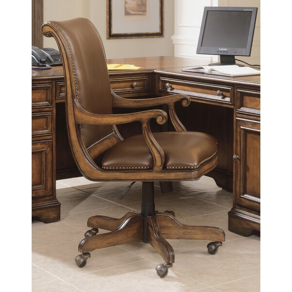 Brookhaven Leather Bankers Chair by Hooker Furnitu