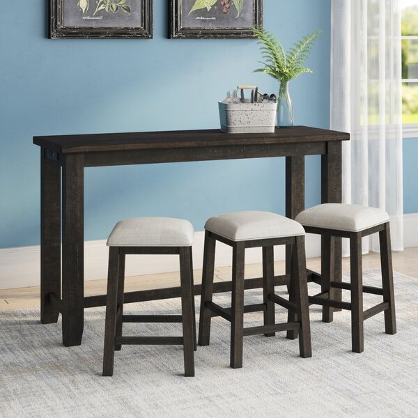 Sunburst Multi-purpose 4 Piece Pub Table Set by Three Posts