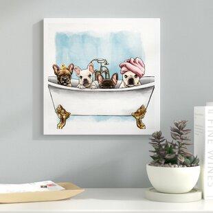 U0027Frenchies In The Tubu0027 Framed Graphic Art Print