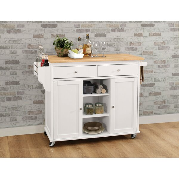 Heanor Kitchen Cart by Alcott Hill