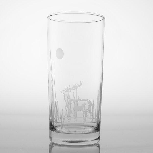 Deer 15 Oz Cooler Glass (Set of 4) by Rolf Glass