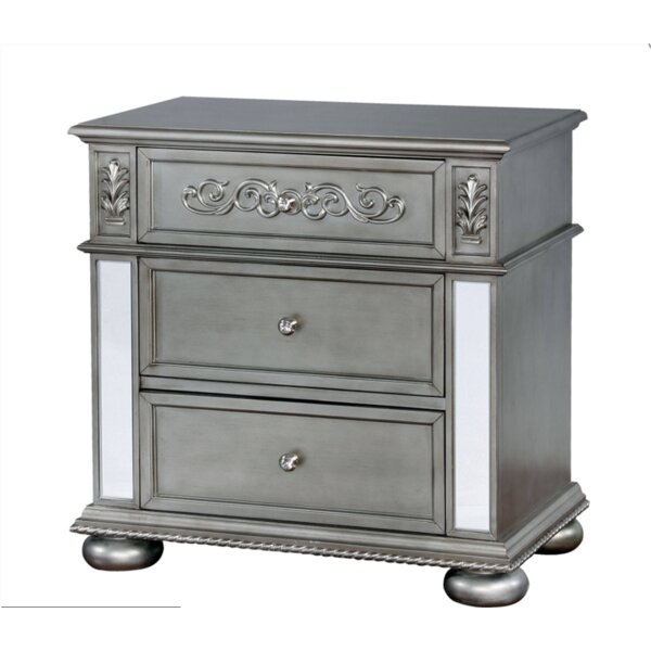 Terrence 3 Drawer Nightstand by Rosdorf Park
